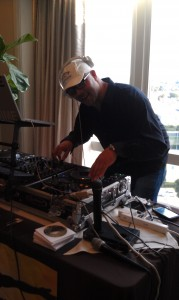 DJ Dime spins some catchy tunes for the celebs and media in attendance