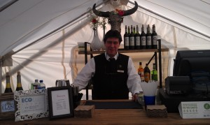 """Fully stocked bar inside one of Under Canvas' """"glamping"""" tents"""
