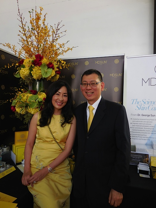 Dr. George Sun and his lovely wife Zehra of MDSUN Skincare Inc