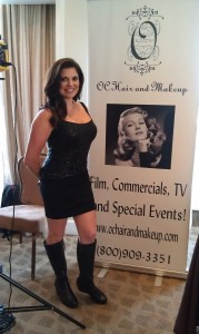 Stacey Smith of OC Hair and Makeup. A beauty pageant winner, Smith was Miss International 2013