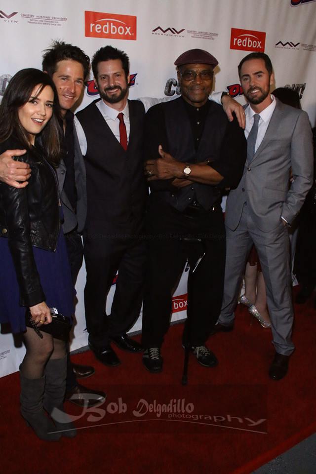 Cast member Dahlia Salem, Chris Moir, David Rountree, Sam Scarber, and David Banks