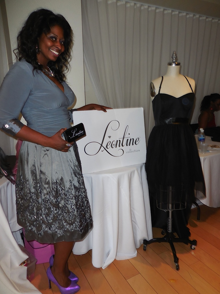 The lovely Leontine of Leontine Collection wears one of her beautiful dresses