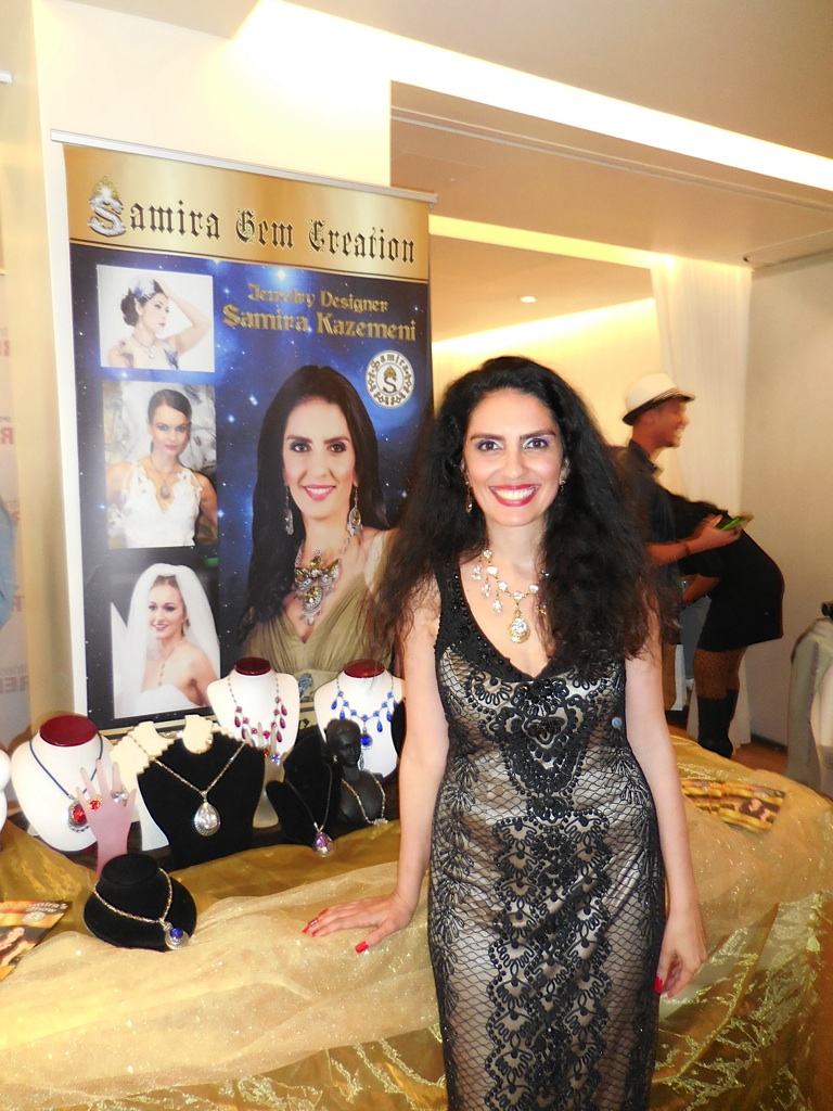 Samira of Samira Gem Creations looks glam with her bling!