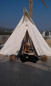 """Under Canvas Events high end """"glamping"""" teepee"""