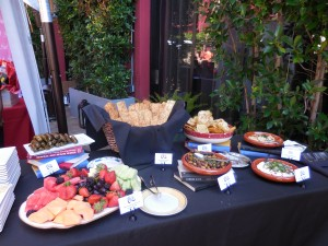 Cleo's spread of mouth watering Mediterranean style appetizers
