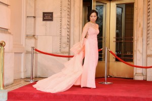 Red carpet couture...Exclusive photo shoot of Ha Phuong on Fifth Avenue. Photo courtesy of Winston Burris, Burris Agency