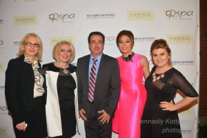 From left to right: 7Q co-owner Lilia Serobian with guest, Vartan Gharpetian, who is running for Glendale City Councilman, Tag show host Taguhi Vardanyan,  and Lousine Karibian, founder and CEO of the World Networks. Photo courtesy of Gennadiy Kotlyarchuk