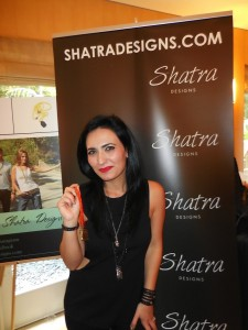 Lovely Sheila from Shatra Designs models one of her bracelets.