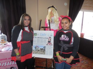 Founder of Naughty Girls Donut Shop Tiana Ramos with her sister Ashley