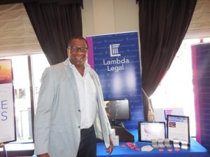 Rick Davis of Lambda Legal. Such a friendly guy!