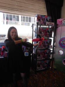 Christie D'Amato with the Nerf Rebelle