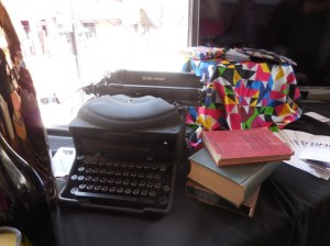 Cool retro typewriter at the BNG Boulevard Nightlife Group booth