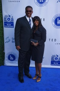 Former Los Angeles Dodger pitcher, Dennis Powell, with his wife