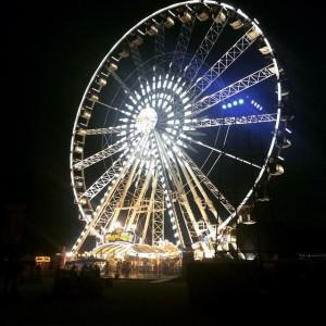 The Iconic Coachella Ferris Wheel at night