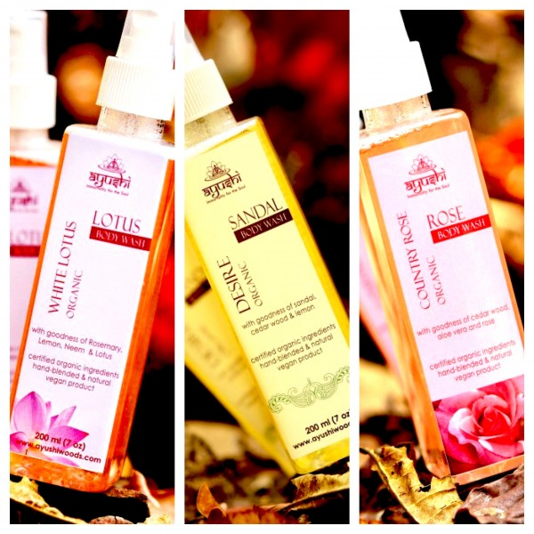 The luxurious body wash from Ayushi