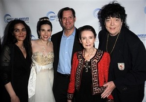 Entertainment attorney Nadia Davari, Vida, Lifetime Member of the Actors Studio actor Ford Austin, Legendary Oscar Winner Margaret O'Brien, and President of the Southern California Motion Picture Guild and actor Randal Malone. Photo courtesy of Albert L. Ortega/GettyImages.
