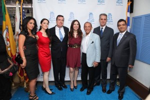From left to right: Chamber Board Member, human rights activist, author and designer Elham Yaghoubian, Chef Rana Pourarab, Senator Steve Anderson, actress, voiceover artist, and Vida G., the former Mayor of Beverly Hills, the Honorable Jimmy Delshad, Consul General of Greece Gregory Karahalios, and Roozbeh Farahanipour, President of the West Los Angeles Chamber of Commerce and owner and operator of Delphi Greek. All photos courtesy of Guillermo Proano