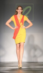 Citrus Infused! A bright and beautiful dress from Quynh's ready-to-wear line. All photos courtesy of Burris Agency Staff.