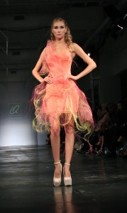 Model in a pink netted tulle gown from the Couture Line. All photos courtesy of Burris Agency Staff.
