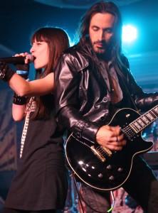 Singer Gabbie Rae with Nuno Bettencourt