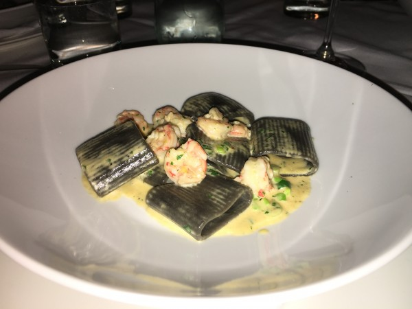 Black squid ink pasta, sea urchin and rock shrimp on top was a great selection for the DineLA menu