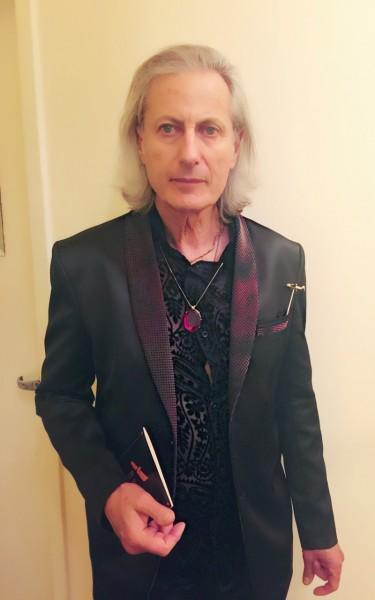 Publisher of the Experience Magazine, Erwin Glaub, wearing an original design from Sai Suman