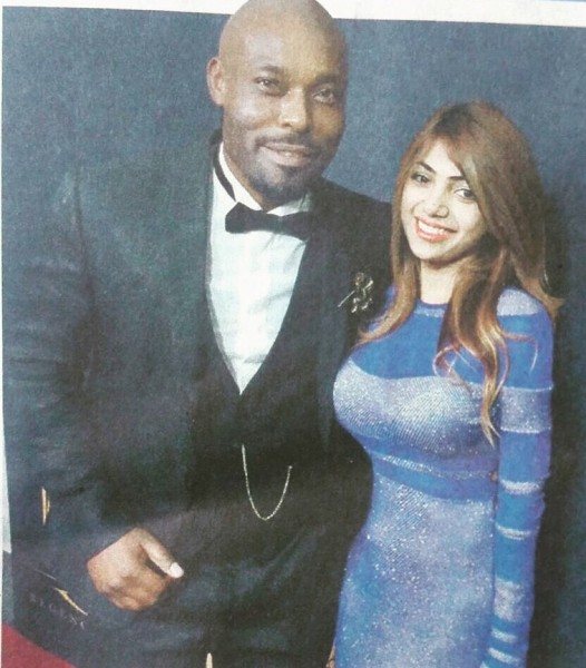 Hollywood celebrity fashion designer Sai Suman at the Oscars with actor Jimmy Jean Louis, donning her creation. Her designs have been a hit among celebrities at the Emmys and the Golden Globes. She is the new hot designer to look out for