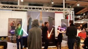 Light sabre initiation. Photo by Laurie Le Bomin.
