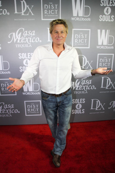 American television personality, Kato Kaelin, on the red carpet for WORLDboots