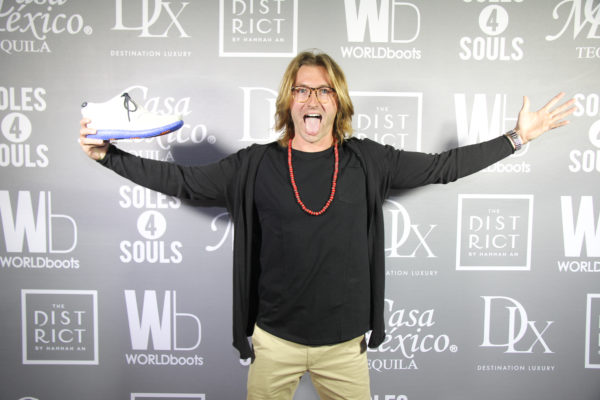 Ben Zerbe on the red carpet at the WORLDboots Official Launch in Los Angeles. Photo by Ian Bailey for the Experience Magazine