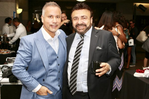 Bespoke founder, Art Lewin, with partner Danny Simons at the Art Lewin Bespoke launch in Santa Monica. Photo by SmuMug for the Experience Magazine