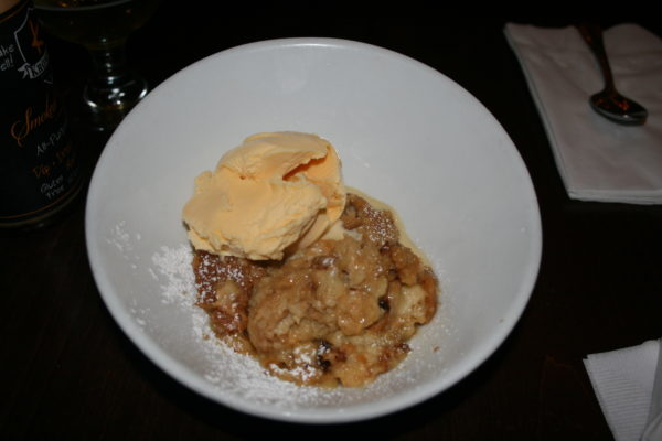 The bread pudding with vanilla ice cream added just the right amount of sweetness to our dineL.A. meal