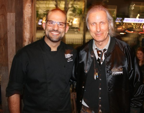Chef Lior Hillel (L) with publisher Erwin Glaub (R) at Bacari G.D.L.