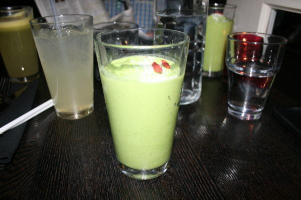 The Kale Shake at Suncafe Organic Cafe