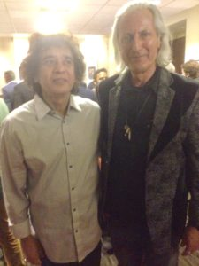 Master musician Zakir Hussain(L) and Erwin Glaub (R) from the Experience Magazine