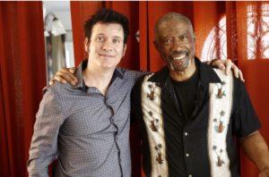 Warren Huart (L) with Jerry Jemmott (R) photo courtesy Alex Kluft Photography