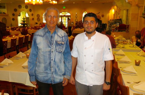 Publisher Erwin Glaub (L) with Sous Chef Shawn at Carousel on Brand in Glendale, California