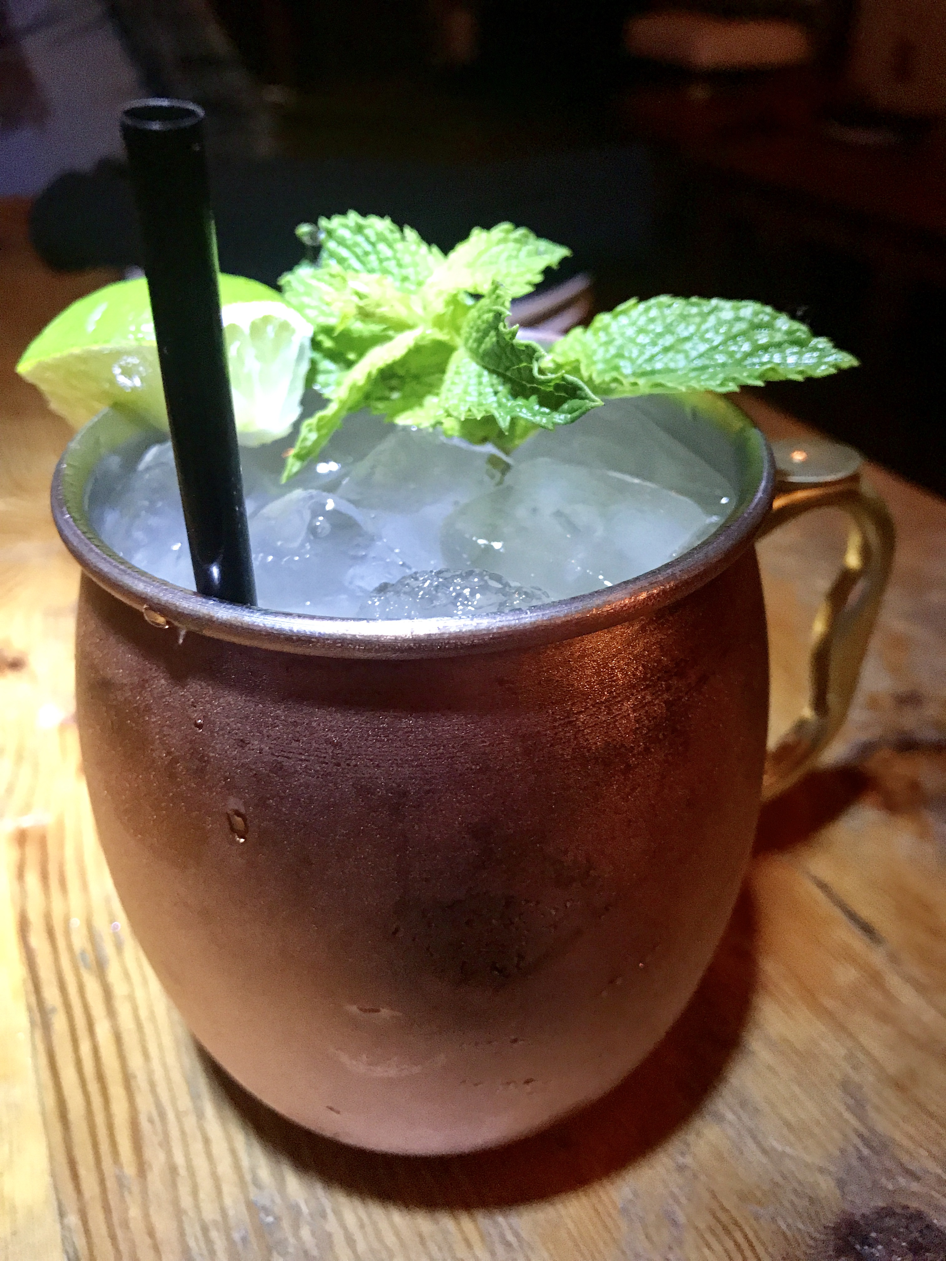 The Moscow Mule at D'Vine Lounge Bar. Made with hand crafted ginger beer